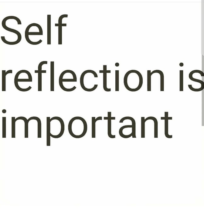 What does it mean to self reflect?